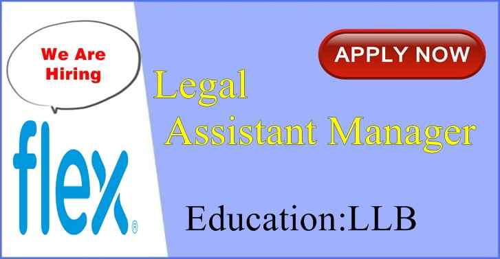 Flex India Hiring Law Graduates Apply Now
