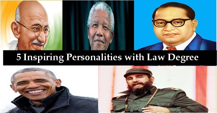 5 Inspiring Personalities with Law Degree