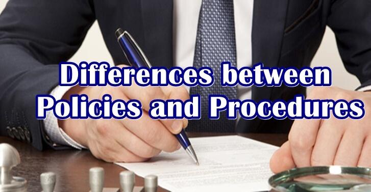 Differences between Policies and Procedures