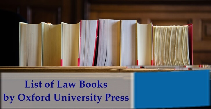 Some List of Law Books by Oxford University Press