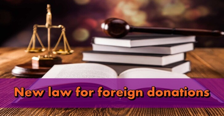 New law for foreign donations