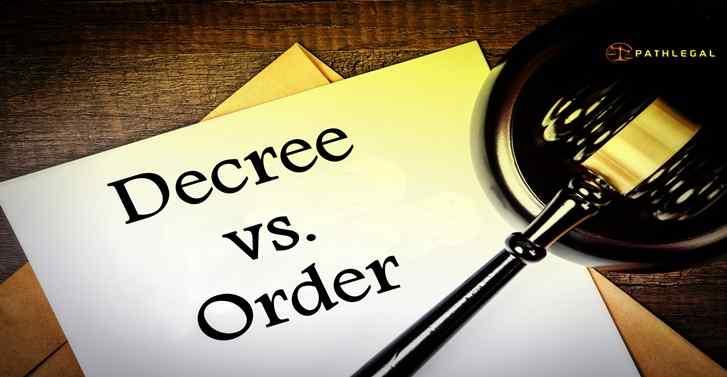 Distinguish Between Order And Decree