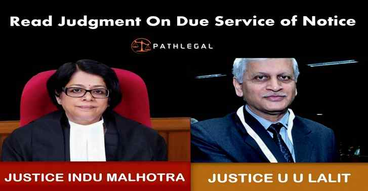 Read Judgment on Due Service of Notice