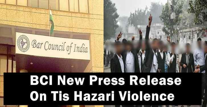 BCI New Press Release  On Tis Hazari Violence