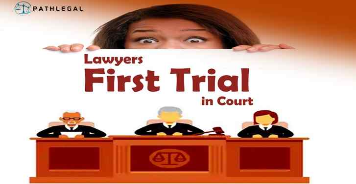 Lawyers First Trial in Court
