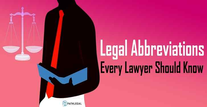 Legal Abbreviations Every Lawyer Should Know