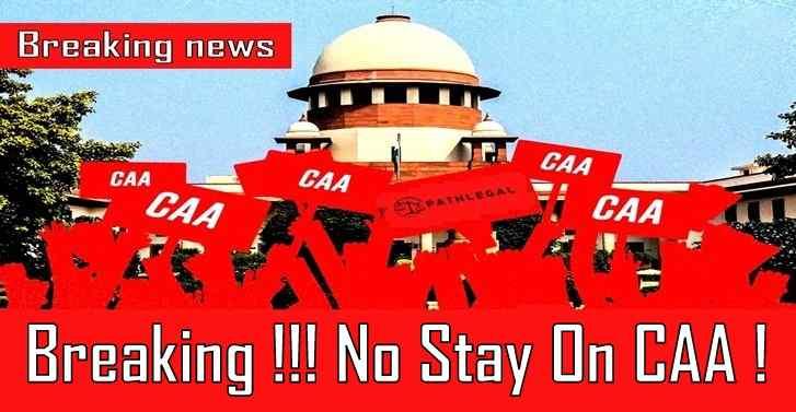 Breaking!!! No Stay On CAA!