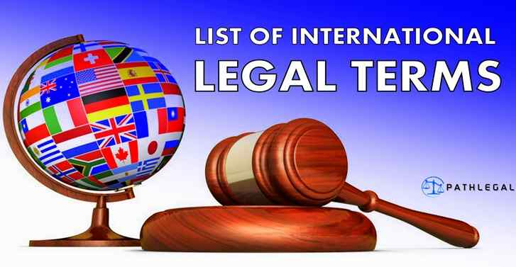 List Of International Legal Terms