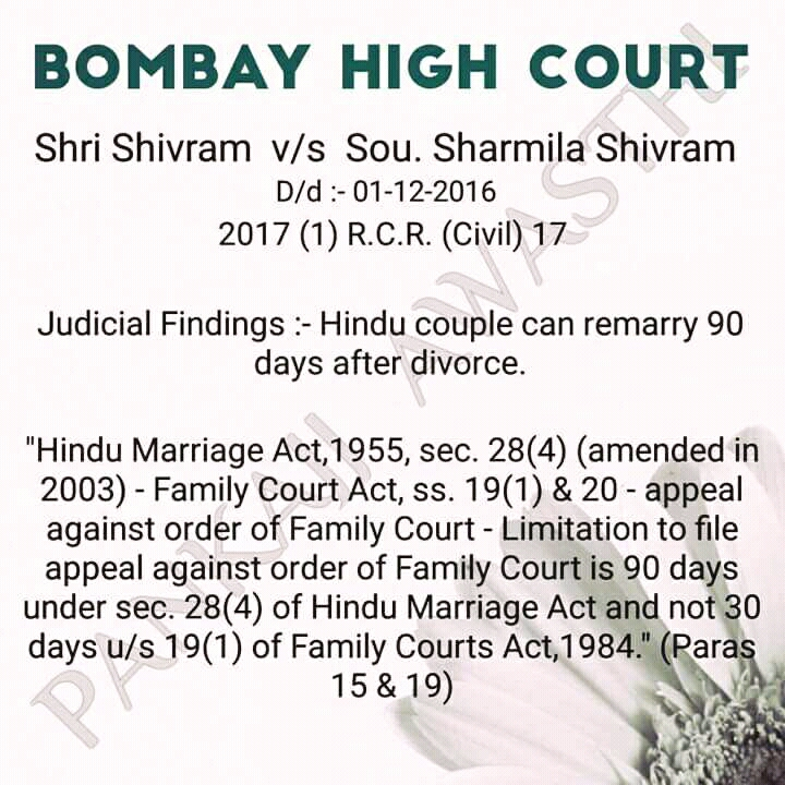 When Hindu couple can remarry again after divorce?