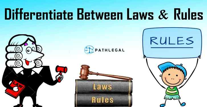 Differentiate Between Laws And Rules