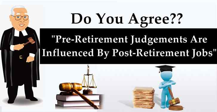 Pre-Retirement Judgements Are Influenced By Post-Retirement Jobs