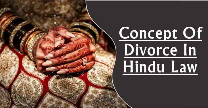 Concept Of Divorce In Hindu Law