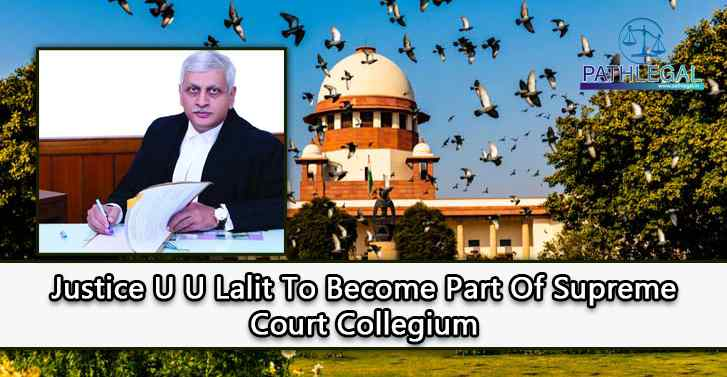 Justice U U Lalit To Become Part Of Supreme Court Collegium