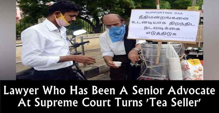 Lawyer Who Has Been A Senior Advocate At Supreme Court Turns 'Tea Seller'