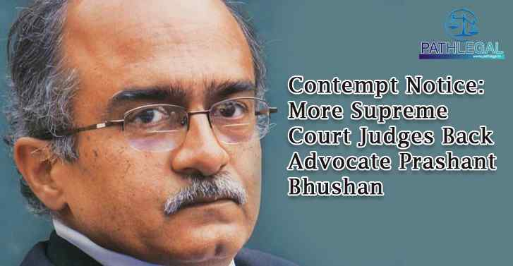 Contempt Notice: More Supreme Court Judges Back Advocate Prashant Bhushan