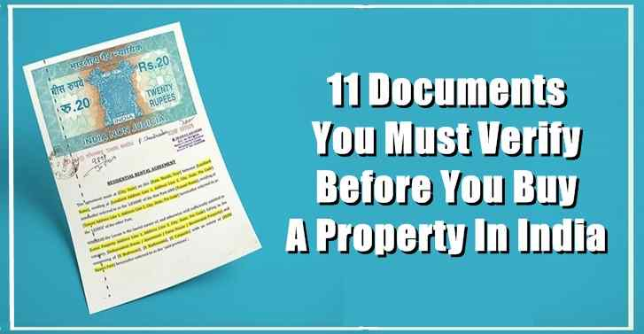11 Documents You Must Verify Before You Buy A Property In India