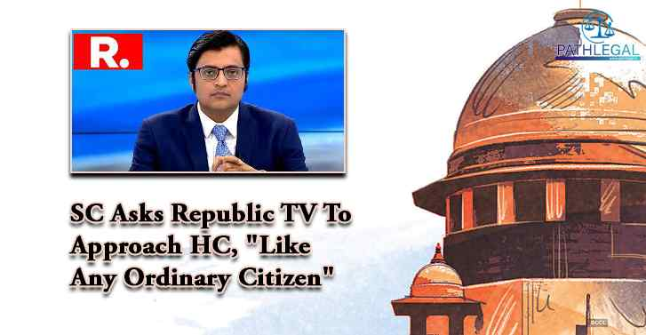 SC Asks Republic TV To Approach HC,