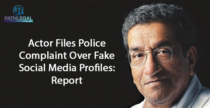 Actor Files Police Complaint Over Fake Social Media Profiles: Report