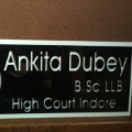 Advocate Ankita dubey, Lawyer in Madhya Pradesh - Indore (near Mungaoli)
