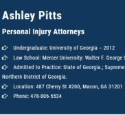 Attorney Ashley Pitts, Personal attorney in Macon -
